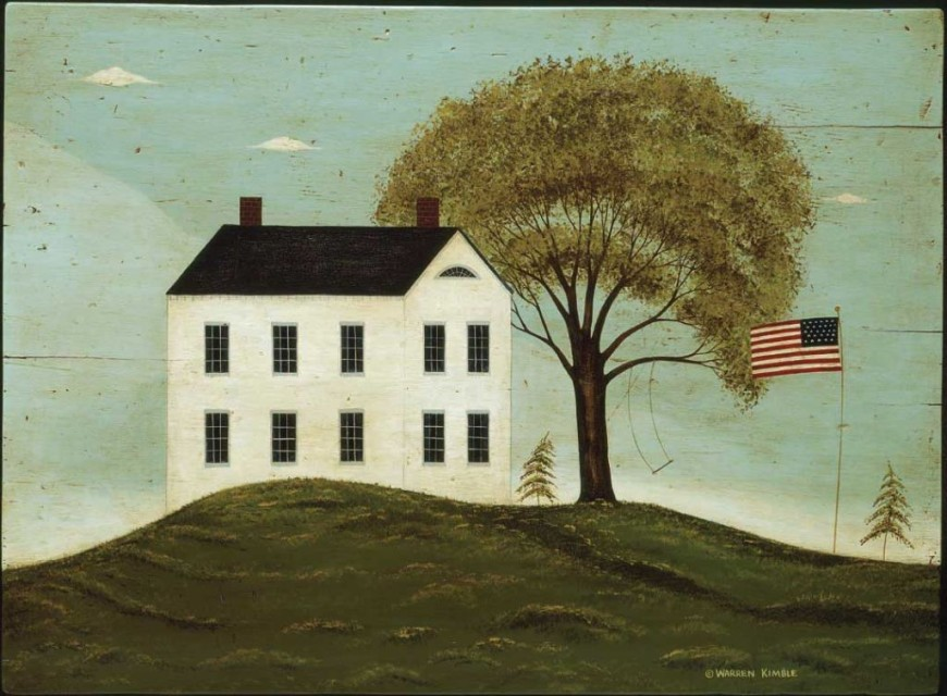 House with Flag